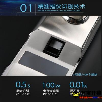 耐特N289指纹锁 密码锁 刷卡锁智能锁 304不锈钢智能锁防盗智能锁